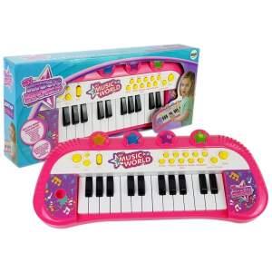 Vaikiškas sintezatorius, 24 klavišai, rožinis