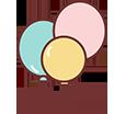 Šventinė atributika, gimtadienio dekoracijos