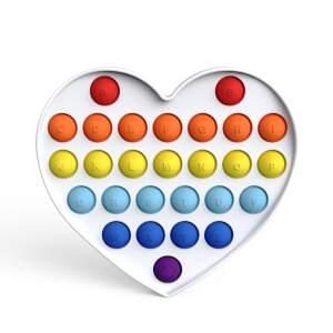 """POP IT antistresinis žaislas """"Balta širdelė"""""""