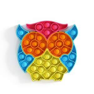 """POP IT antistresinis žaislas """"Spalvotoji pelėda"""", dėlionė"""