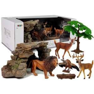 Laukinių gyvūnų figūrėlių rinkinys