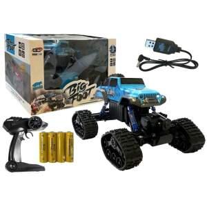 """Nuotoliniu būdu valdomas džipas """"Monster Truck"""", mėlynas"""