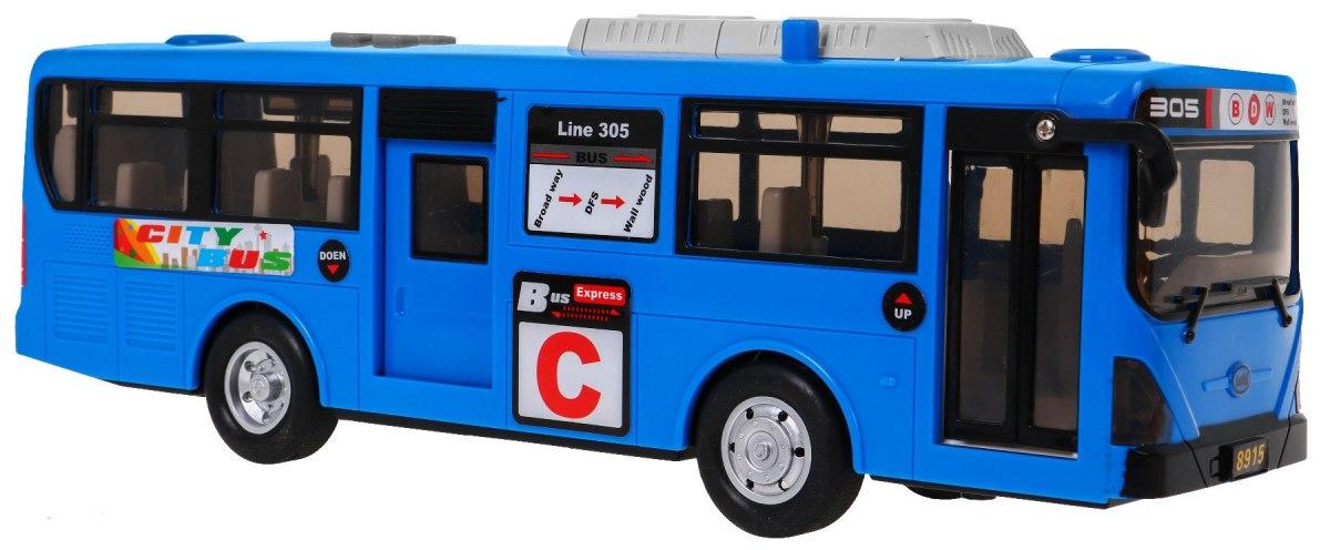 """Žaislinis mokyklinis autobusas, """"Blue Gimbus"""", mėlynas"""