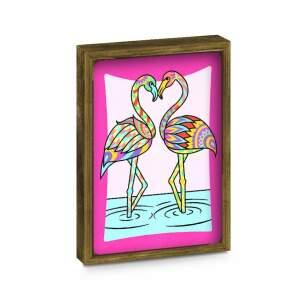"""Dviejų dalių piešimo smėliu rinkinys su rėmeliais """"Flamingas/Drugelis"""""""