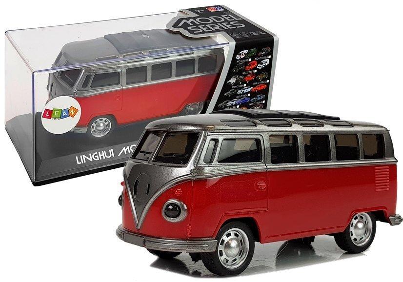 Senovinis autobusiukas, raudonas