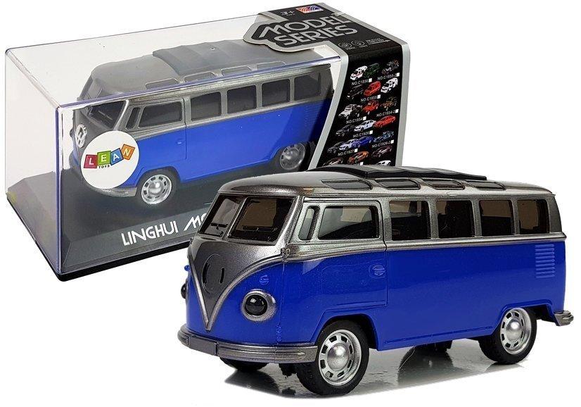 Senovinis autobusiukas, mėlynas