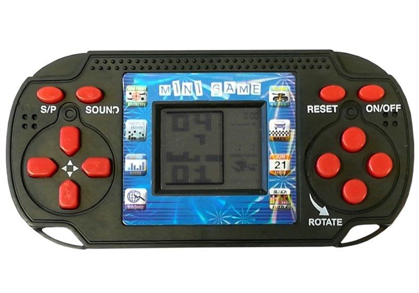 """Konsolės formos žaidimas """"Tetris"""", juodas"""