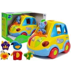 Interaktyvus žaislinis automobilis su kaladėlėmis