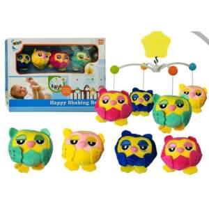 Karuselė lopšiui su minkštais žaislais