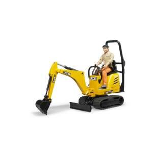 BRUDER žaislinis JCB 8010 CTS mini ekskavatorius su žaisline darbininko figūra, 62002