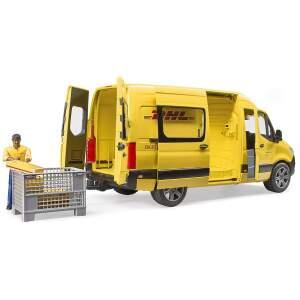 BRUDER siuntų mikroautobusas MB Sprinter DHL su vairuotojo elementu, 02671