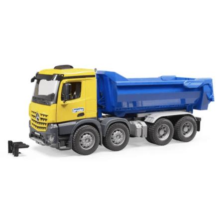 BRUDER sunkvežimis MB Arocs Halfpipe Kipp-LKW su pakeliama priekaba, 03623