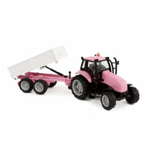 Rožinis traktoriukas Kids Globe