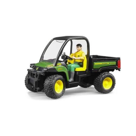 BRUDER žaislinis džipas John Deere Gator XUV 855D su vairuotoju, 02490
