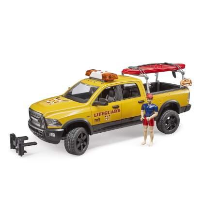 BRUDER gelbėtojų džipas RAM 2500  su gelbėtoju ir įranga, 02506